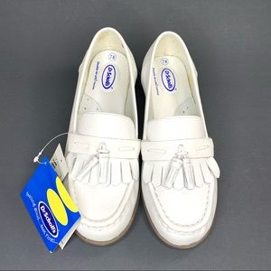 NWT Dr. Scholl's White Classic Tassel Loafer